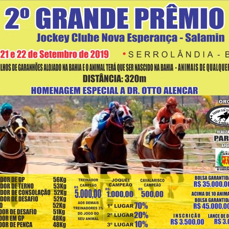 Ler mais sobre 2º GP JOCKEY CLUB NOVA ESPERANÇA - SALAMIN