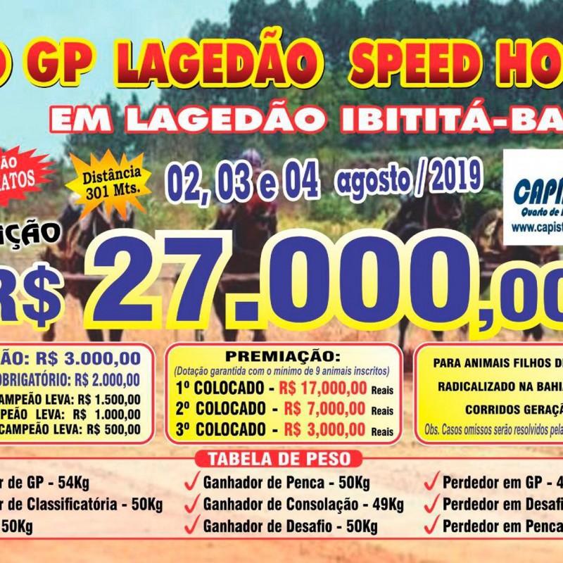 1º GP LAGEDÃO SPEED HORSE - LAGEDÃO IBITITÁ - BA