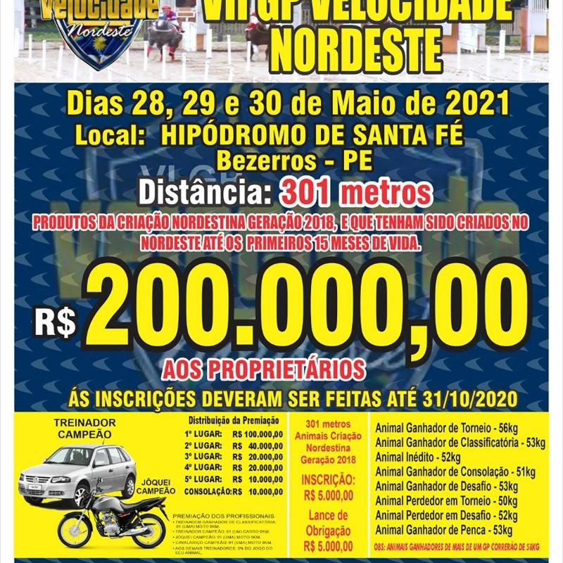 VII GP VELOCIDADE DO NORDESTE -2021