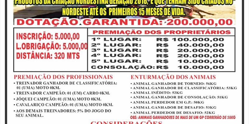 Grande Premio e Leilão Haras Primavera 2021 em Caninde -CE