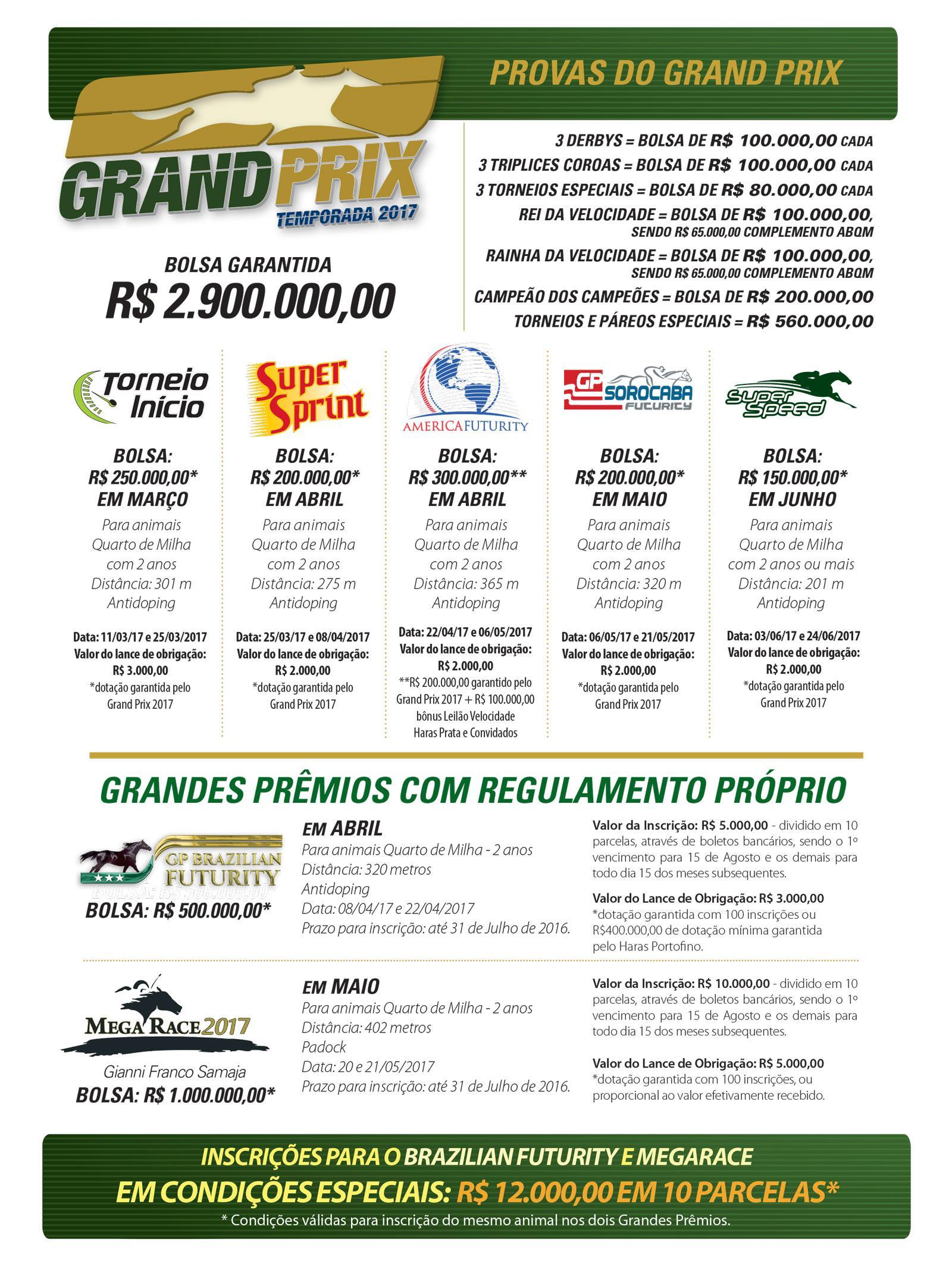 Grand Prix - Temporada 2017