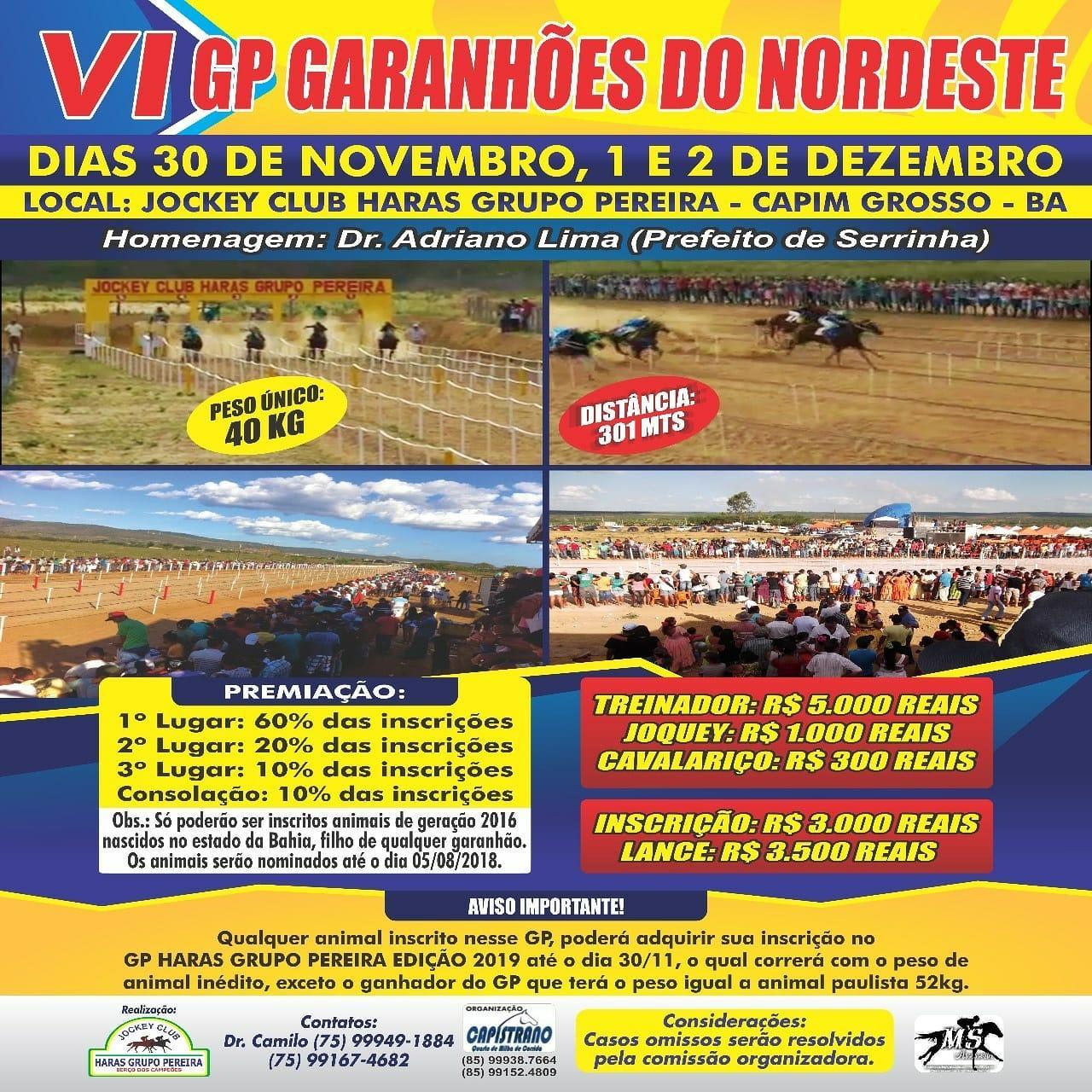 VI GP GARANHÕES DO NORDESTE