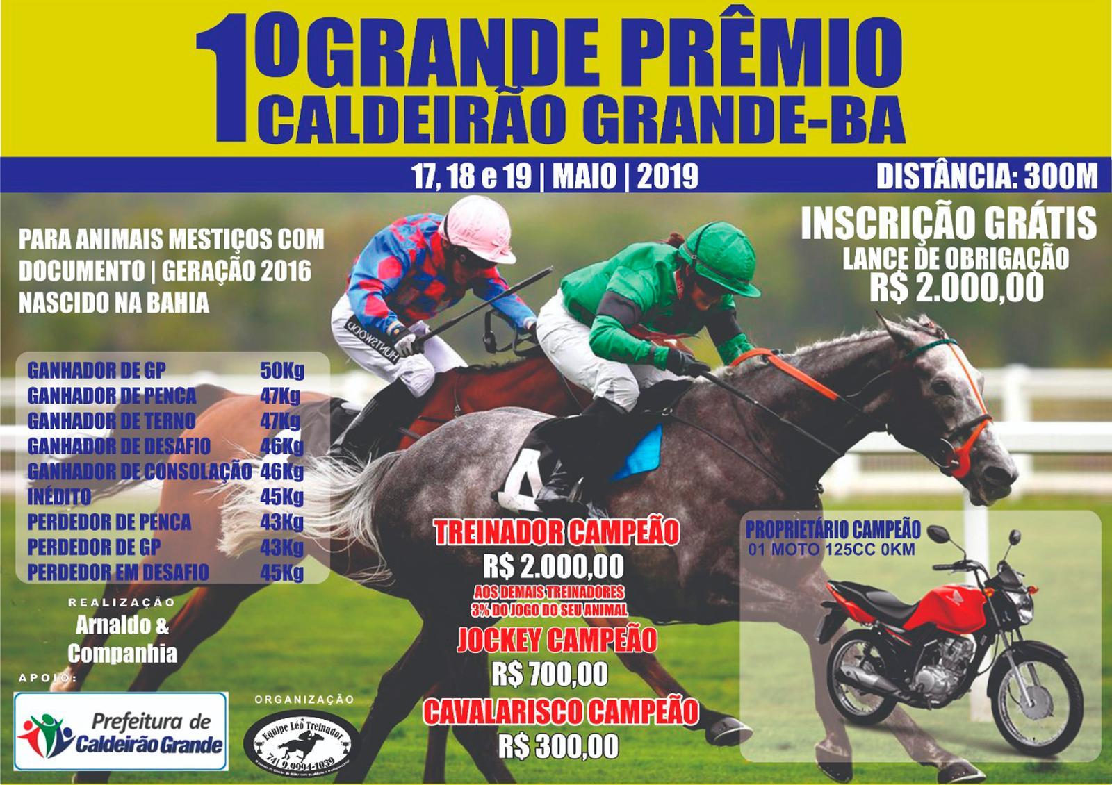1º GP CALDEIRÃO GRANDE-BA