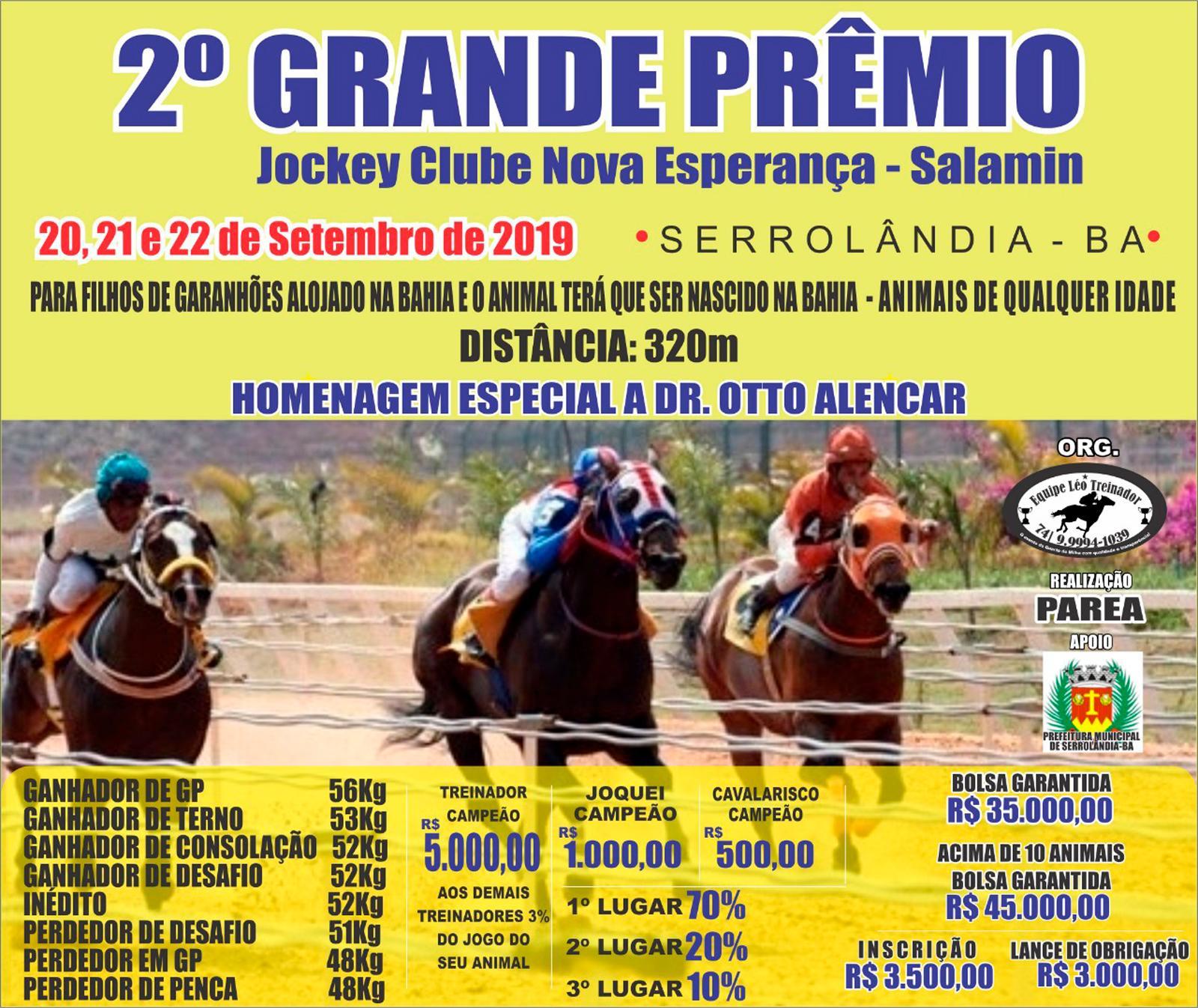 2º GP JOCKEY CLUB NOVA ESPERANÇA - SALAMIN