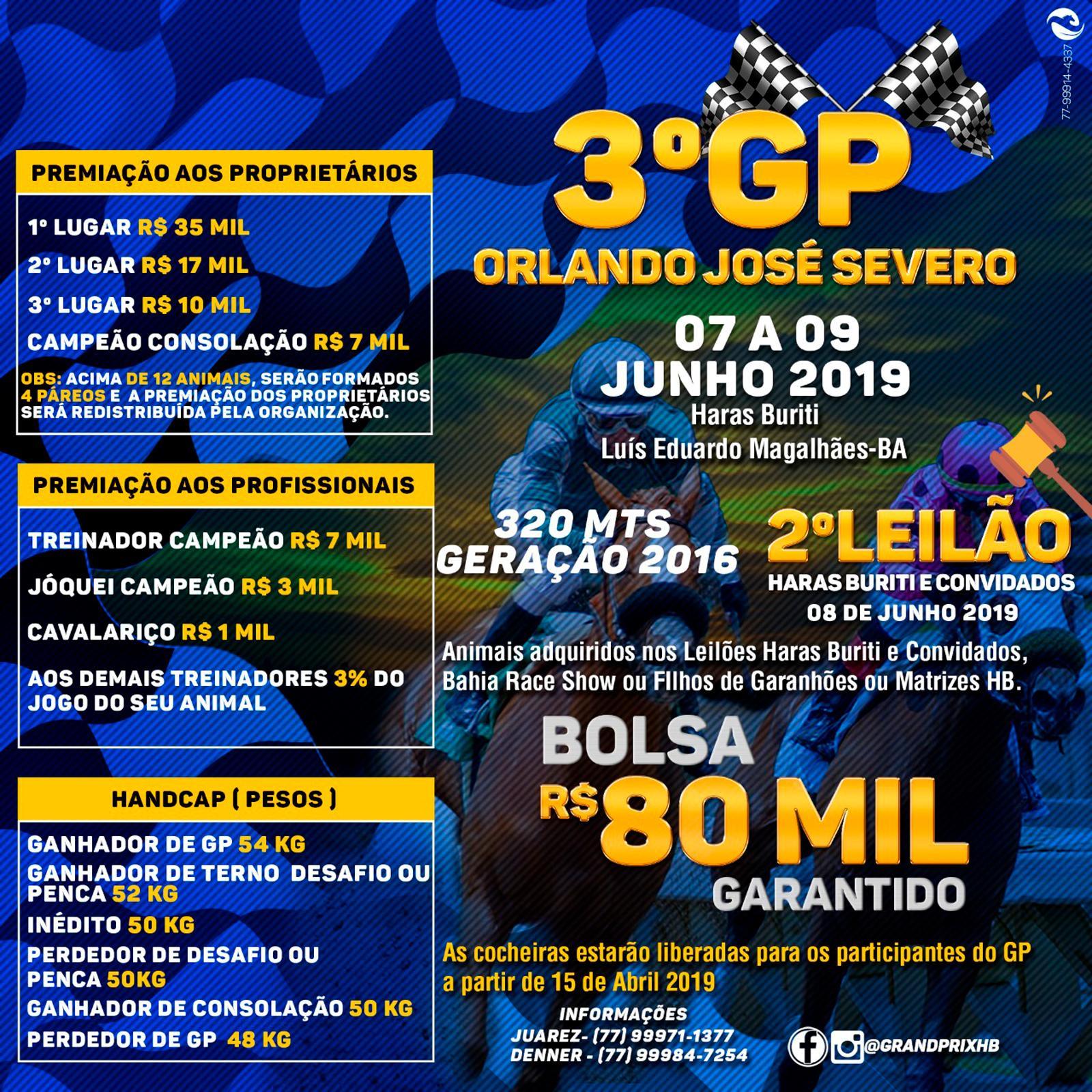 3º GP ORLANDO JOSÉ SEVERO